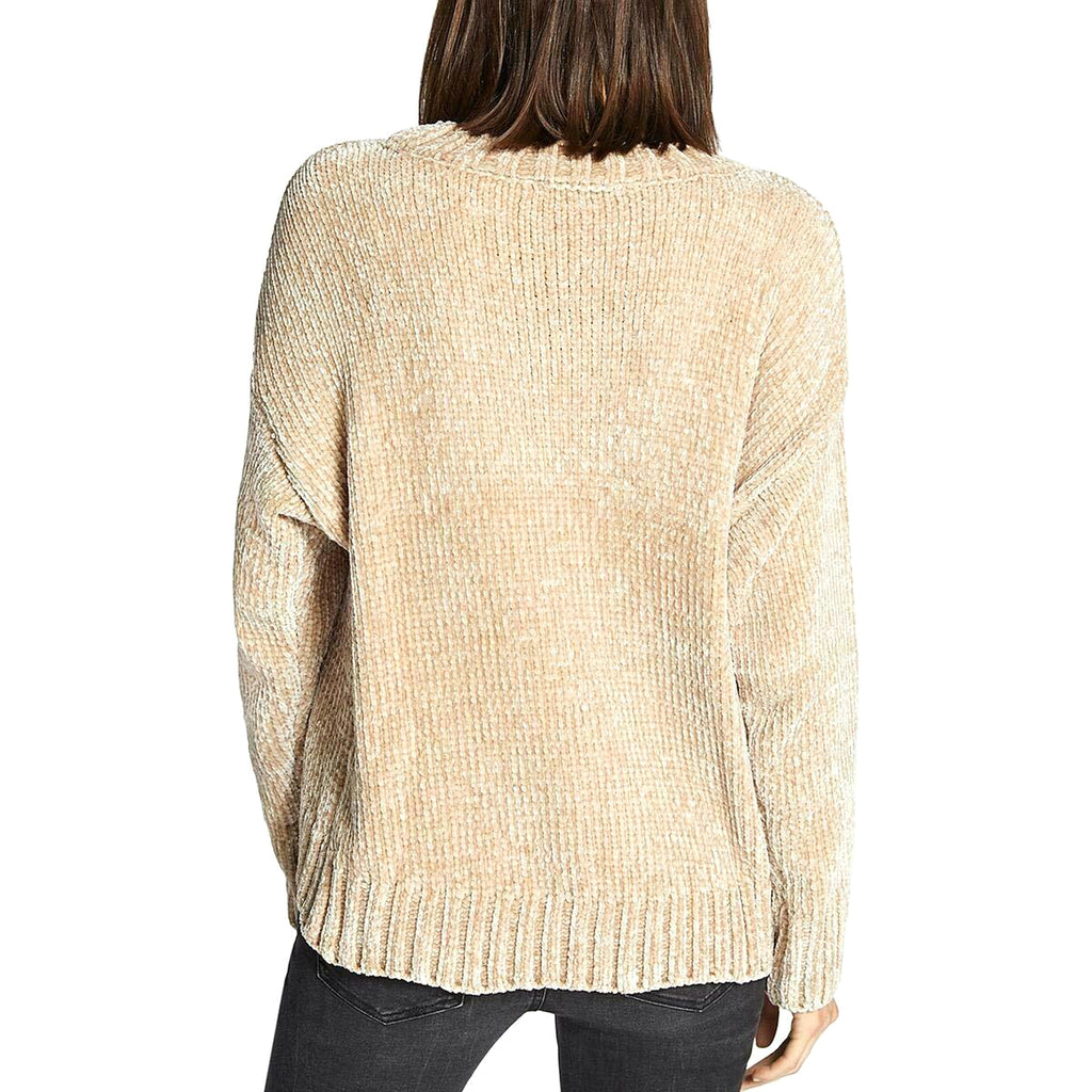 Yieldings Discount Clothing Store's Chenille Crew Neck Pullover Sweater by Sanctuary in Champagne