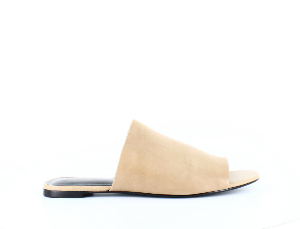 Yieldings Discount Shoes Store's Heather Slide Sandals by Via Spiga in Desert Leather