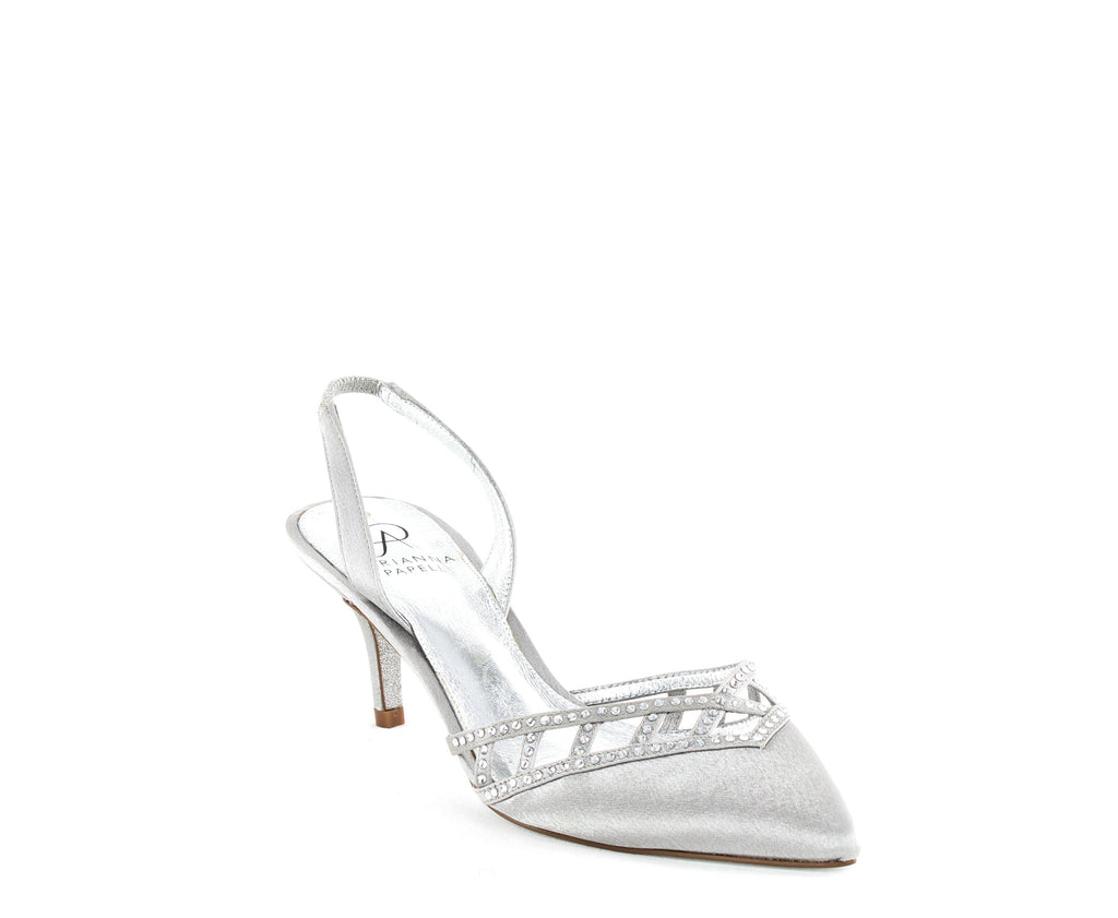 Yieldings Discount Shoes Store's Haven Evening Pumps by Adrianna Papell in Silver Sheena