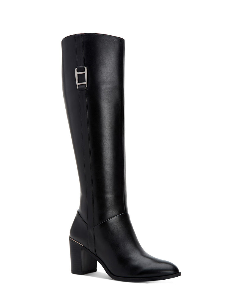 Yieldings Discount Shoes Store's Nellie Step 'N Flex Dress Boots by Alfani in Black