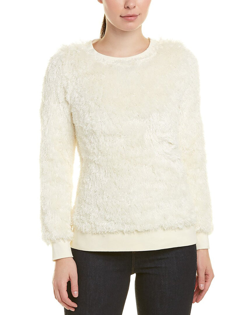 Yieldings Discount Clothing Store's Faux Fur Pullover by Sail To Sable in Cream