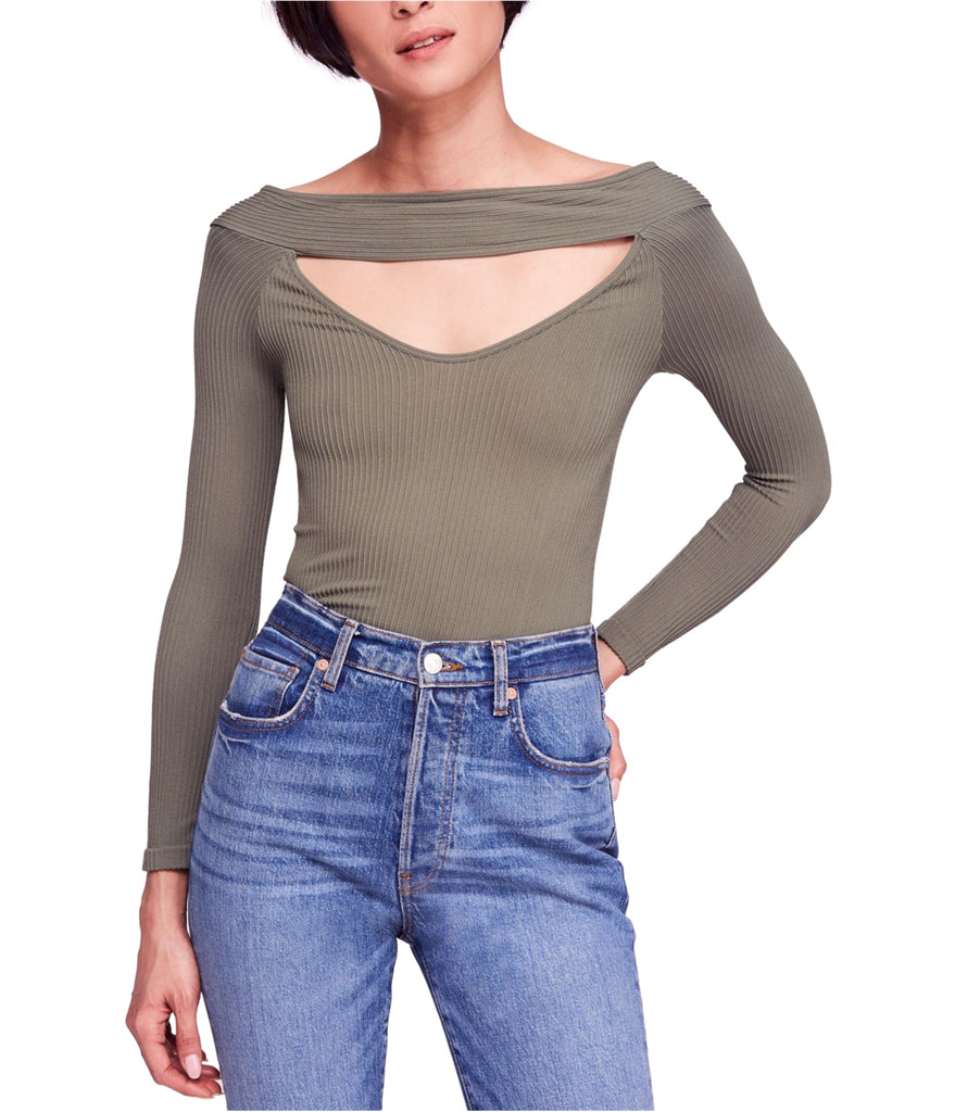 Yieldings Discount Clothing Store's Find Me Long-Sleeve Top by Free People in Army