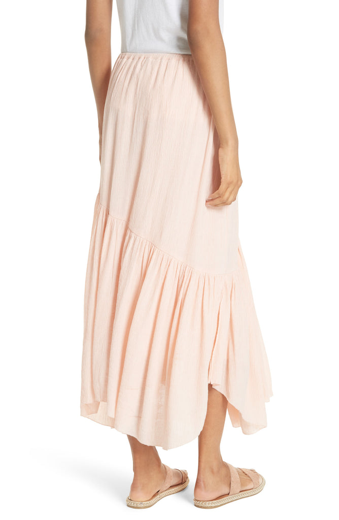 Yieldings Discount Clothing Store's Hiwalani B Textured Maxi Skirt by Joie in Summer Pink