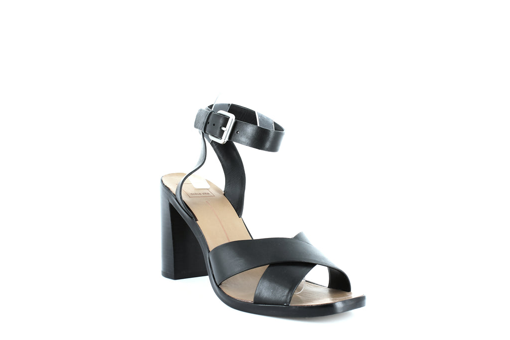 Yieldings Discount Shoes Store's Nala Sandals by Dolce Vita in Black Leather