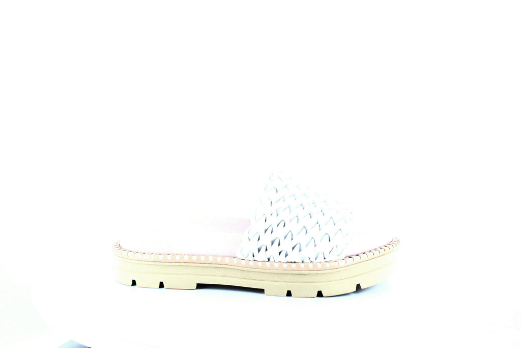 Yieldings Discount Shoes Store's Hanoi Smocked Platform Sandals by Daniella Lehavi in White