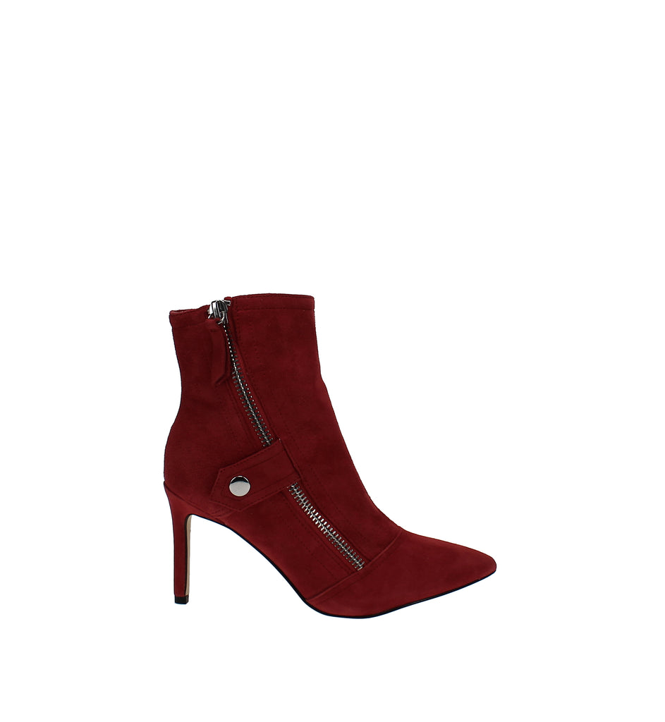 Yieldings Discount Shoes Store's Emette Dress Booties by Nine West in Medium Red