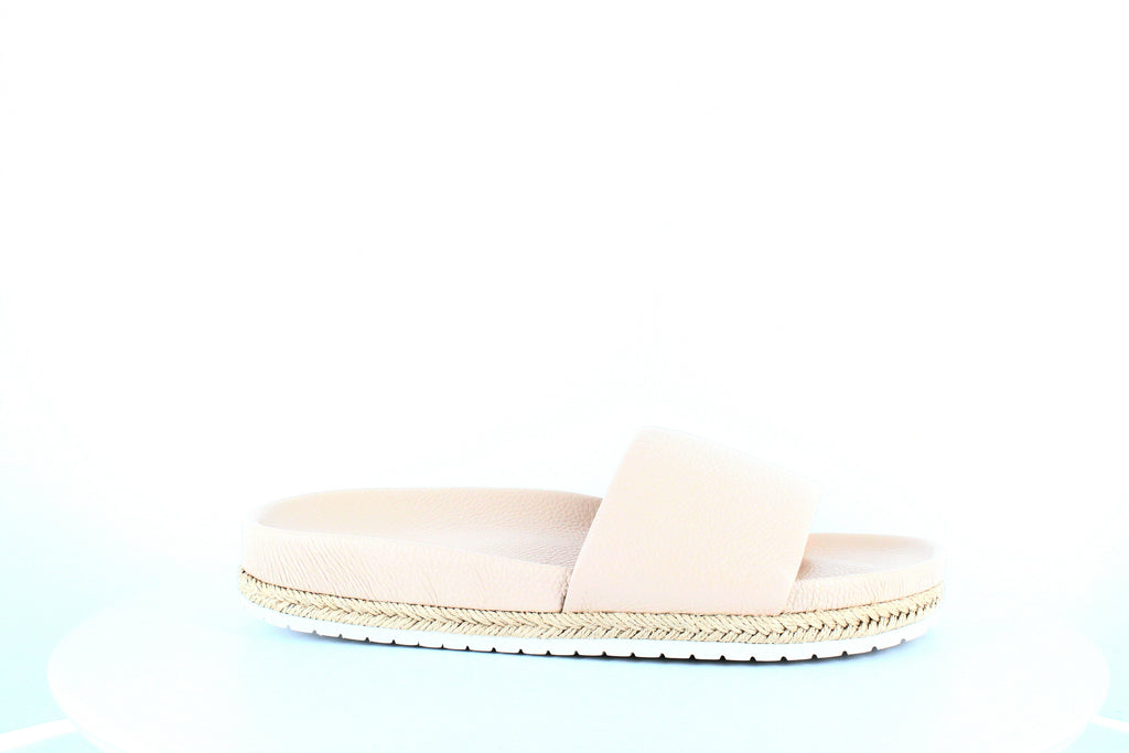 Yieldings Discount Shoes Store's Aurelia Slide Sandals by Vince in Blush