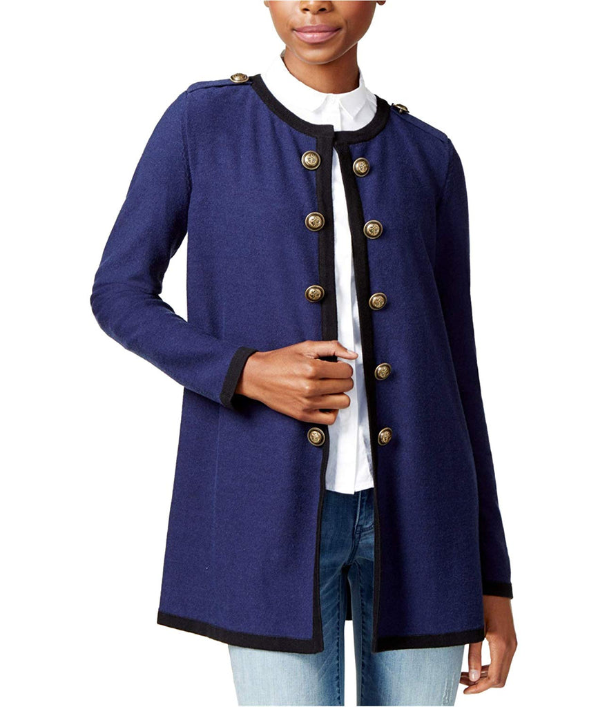 Yieldings Discount Clothing Store's Antibes Embellished Cardigan Jacket by Maison Jules in Blue Notte