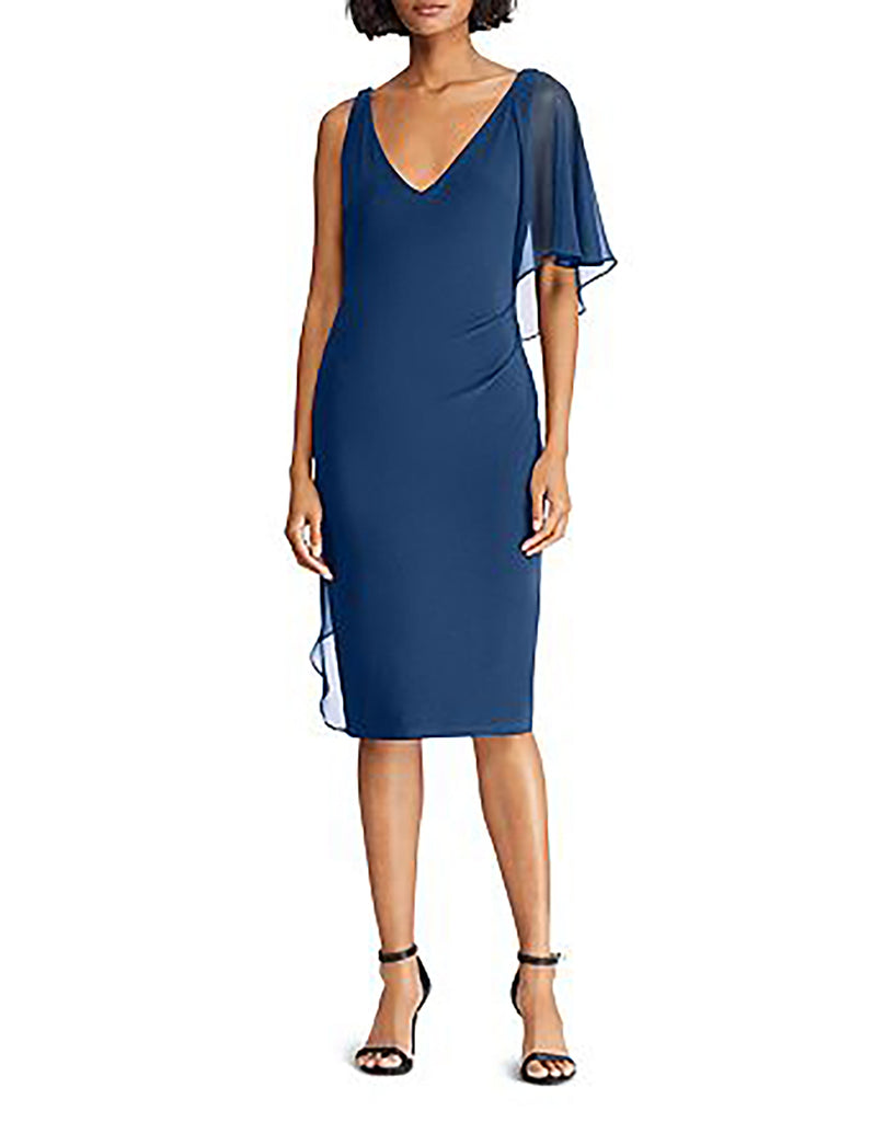 Yieldings Discount Clothing Store's Annika Cocktail Dress by Lauren by Ralph Lauren in Luxe Beryl