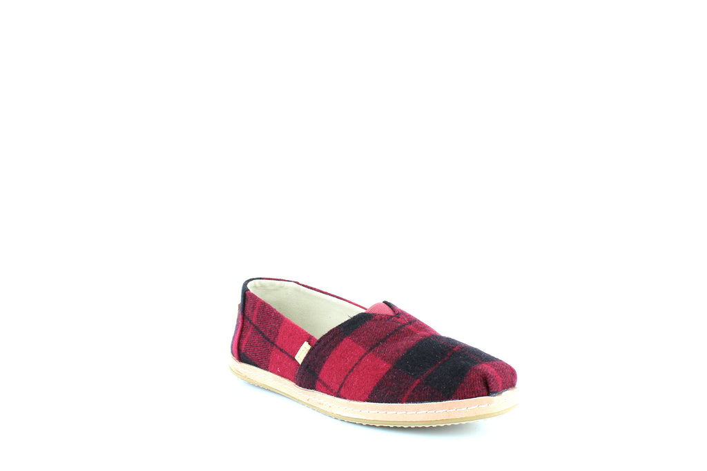 Yieldings Discount Shoes Store's Classic Slip-Ons by Toms in Red Plaid