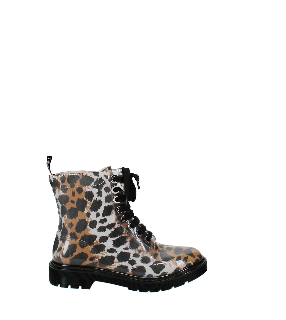 Yieldings Discount Shoes Store's Winter Jelly Animal Print Lifestyle Ankle Boots by Sergio Rossi in Lux Ocelot