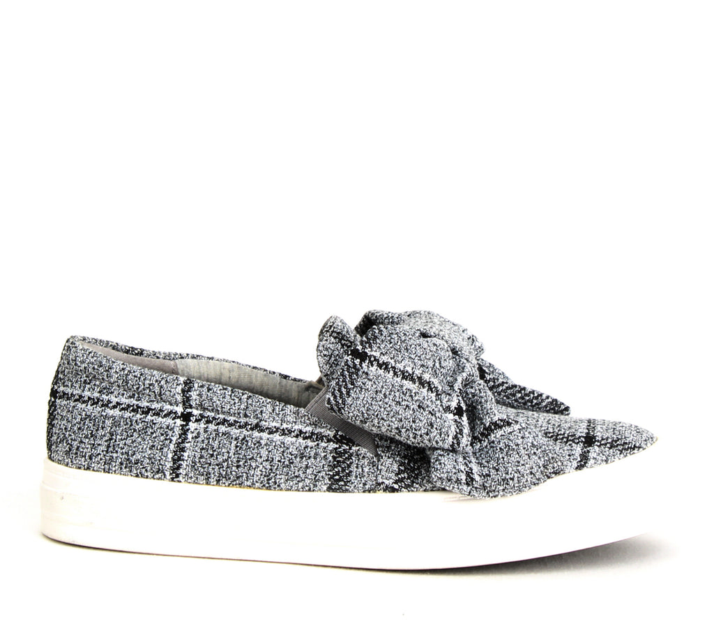 Yieldings Discount Shoes Store's Onosha Slip-On Sneakers by Nine West in Grey Fabric