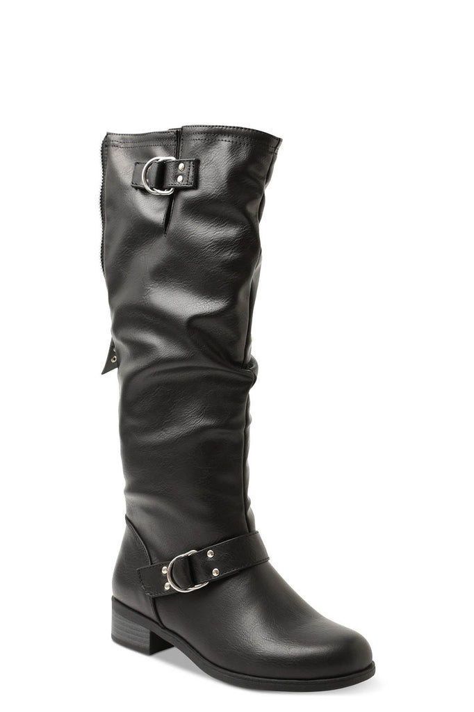 Yieldings Discount Shoes Store's Minkler Riding Boots by XOXO in Black
