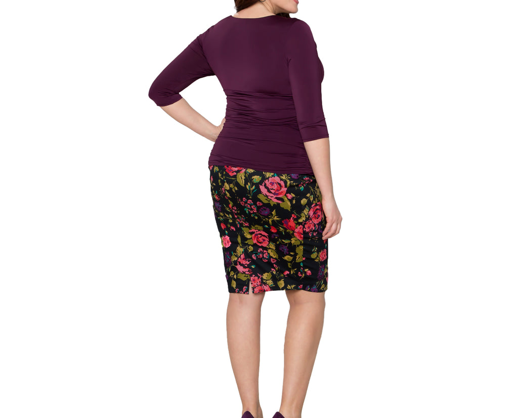 Yieldings Discount Clothing Store's Paris Pencil Skirt by Kiyonna in Black