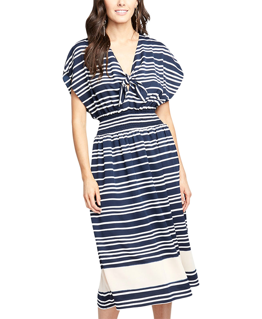 RACHEL Rachel Roy | Striped Midi Dress