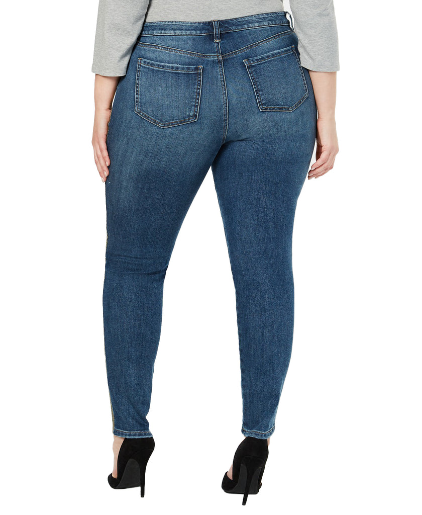 Yieldings Discount Clothing Store's Plus Metallic Denim Skinny Jeans by Style & Co in Lanister