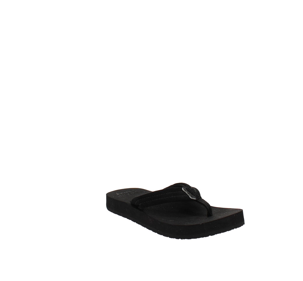 Yieldings Discount Shoes Store's Cushion Breeze Flip Flop by Reef in Black