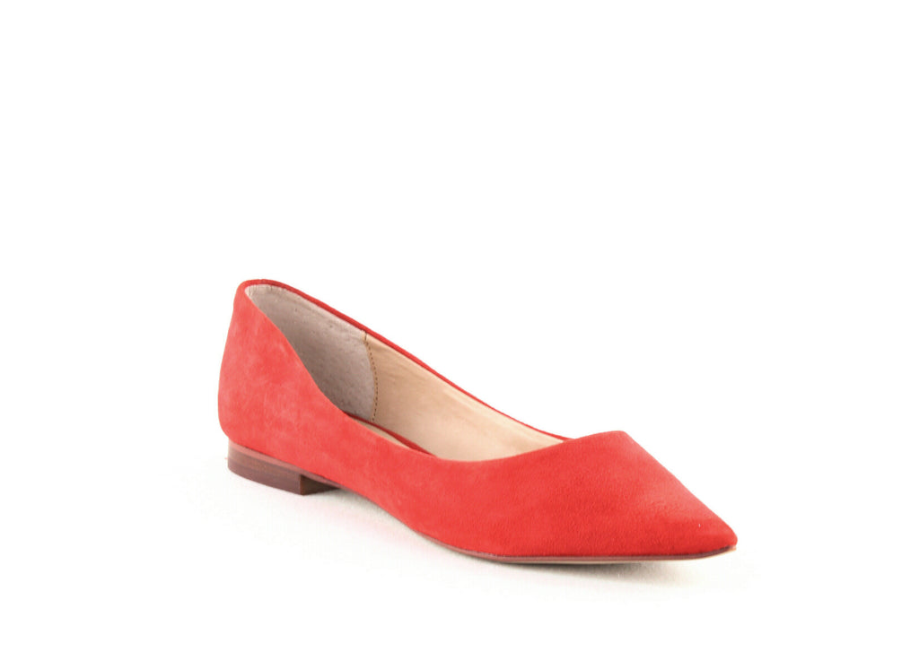 Yieldings Discount Shoes Store's Abel Suede Flats by Aqua in Red Suede