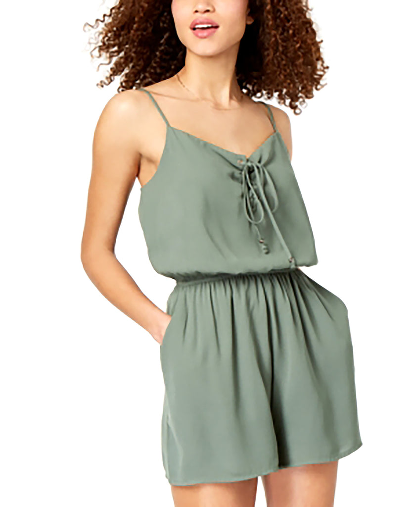 One Clothing | Juniors' Lace-up Romper