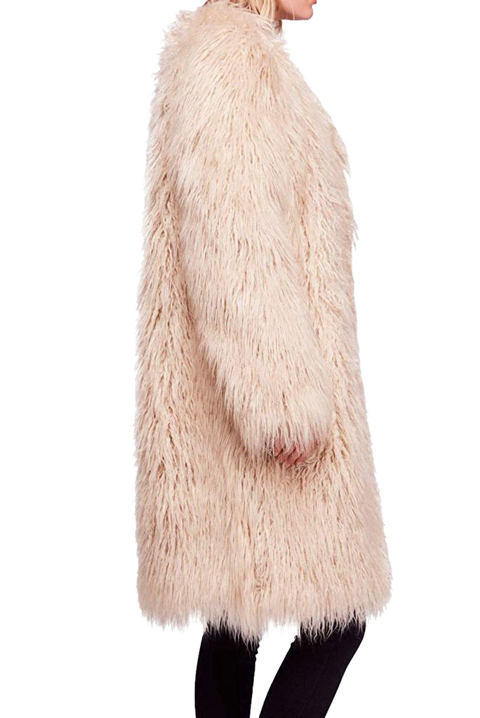 Yieldings Discount Clothing Store's Florence Faux Fur Coat by Free People in Sand