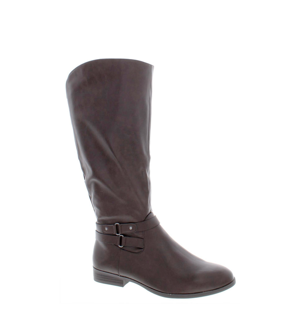 Yieldings Discount Shoes Store's Kindell Riding Boots by Style & Co in Chocolate