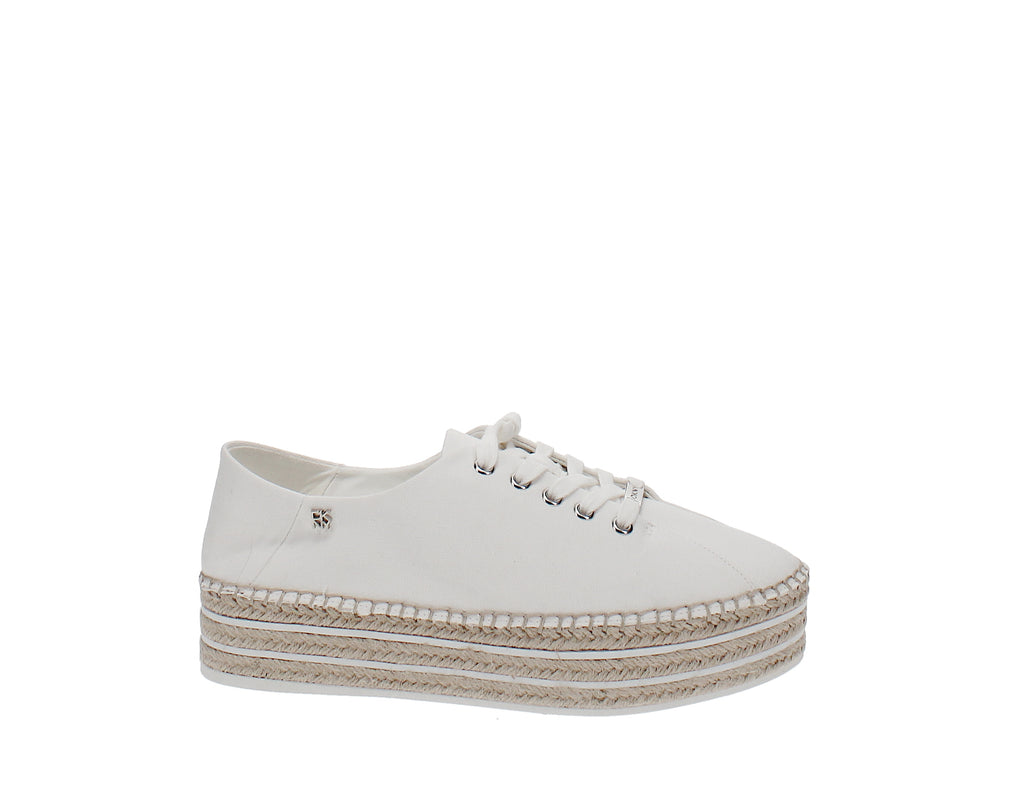 Yieldings Discount Shoes Store's Adrian Platform Sneakers by DKNY in White