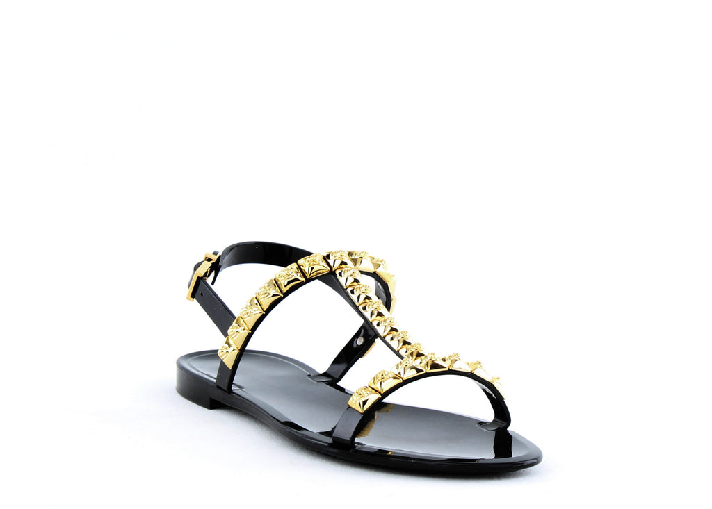 Yieldings Discount Shoes Store's Jelrose Sandals by Stuart Weitzman in Black Jelly