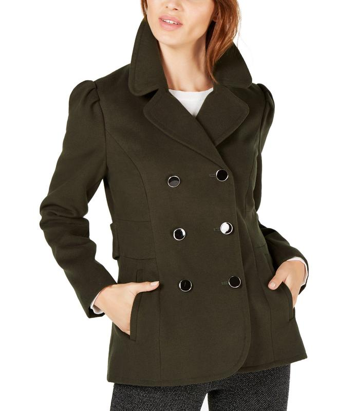 Yieldings Discount Clothing Store's Double-Breasted Peacoat by Maison Jules in Lodan