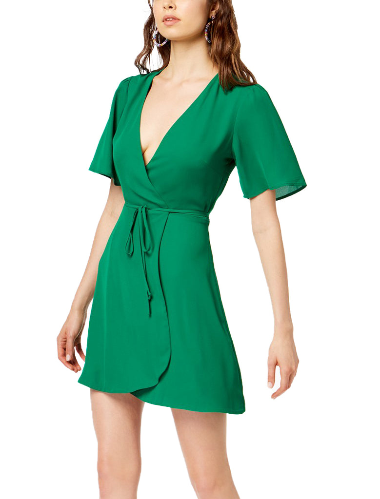 Yieldings Discount Clothing Store's Socialite Wrap Dress by Socialite in Green