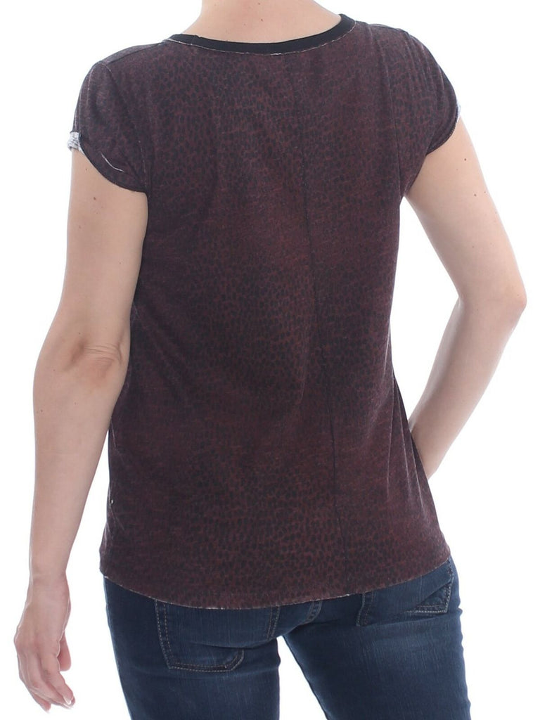 Yieldings Discount Clothing Store's Camo Clare T-Shirt by Free People in Wine