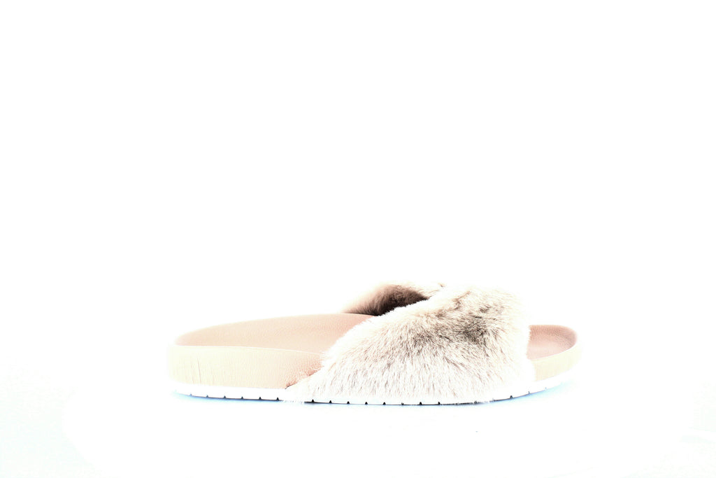 Yieldings Discount Shoes Store's Garrison Slide Sandals by Vince in Rose Fur