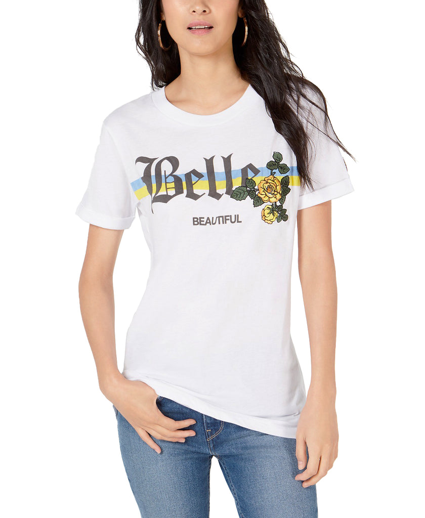 Yieldings Discount Clothing Store's Belle Beautiful Flower T-Shirt by Project 28 in White