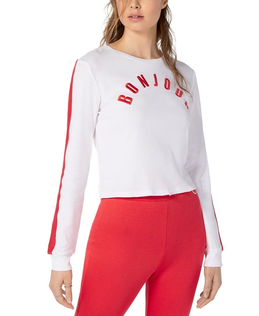 Yieldings Discount Clothing Store's Bonjour Long-Sleeve Cotton by Project 28 NYC in White
