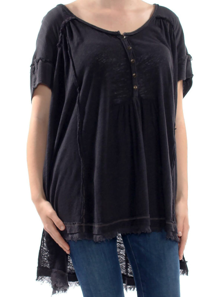 Free People | Fringed Short Sleeve Top