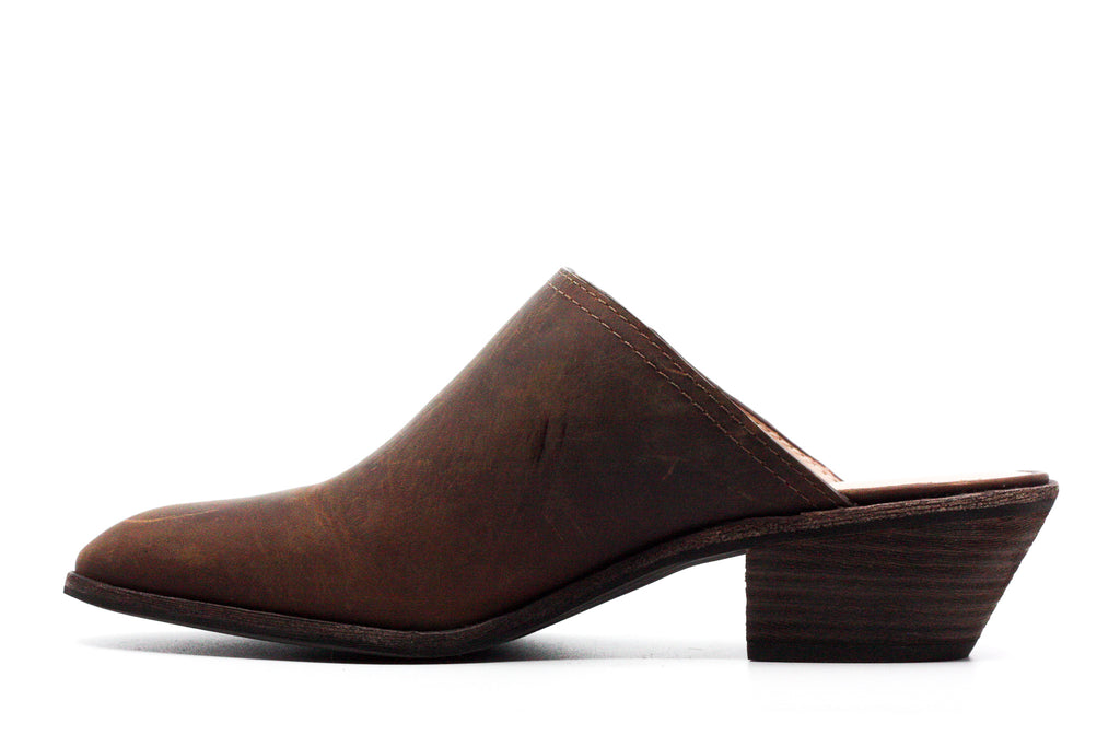 Bass | Nikki Leather Block Heel Mules