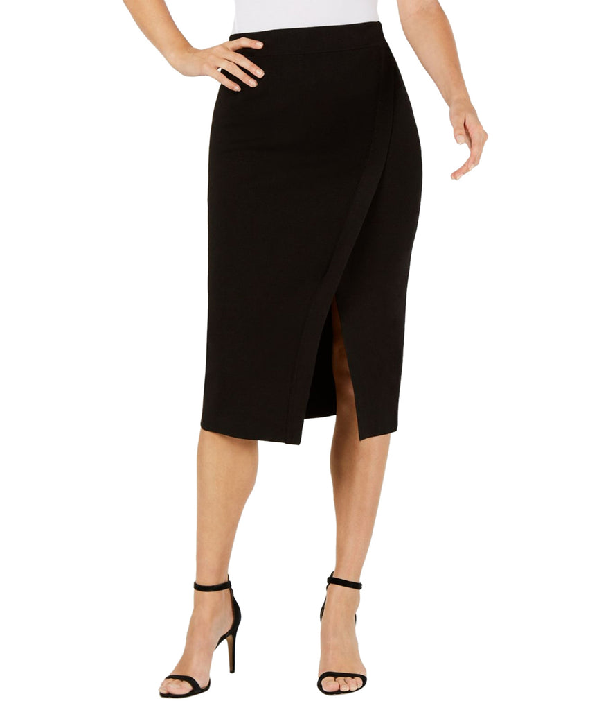 Yieldings Discount Clothing Store's Split Front Midi Skirt by Anne Klein in Black