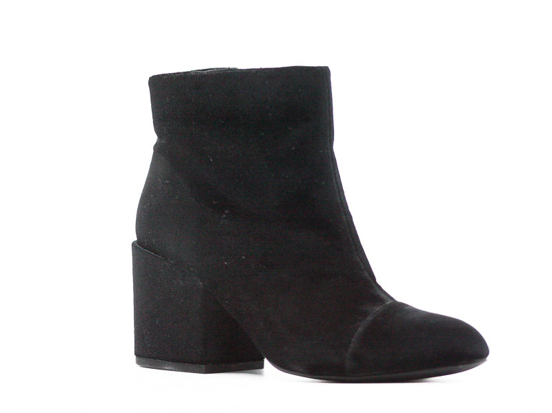 Yieldings Discount Shoes Store's Quincey Velvet Boots by Charles By Charles David in Black