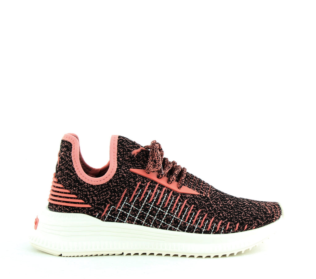 Yieldings Discount Shoes Store's Avid evoKnit Sneakers by Puma in Black/Pink/Whisper White