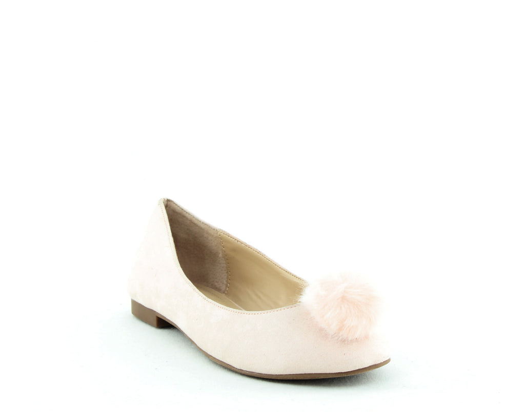 Yieldings Discount Shoes Store's Danni Pom Pom Suede Flats by Charles By Charles David in Pink