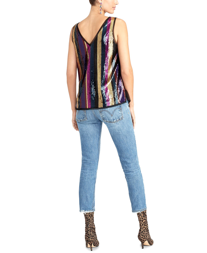 RACHEL Rachel Roy | Veda Sequined Stripe Cami Top