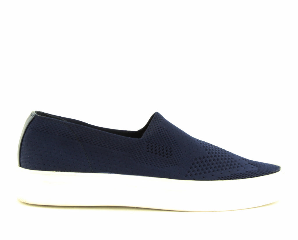 Yieldings Discount Shoes Store's Kai Slip-On Sneakers by STEVEN By Steve Madden in Navy