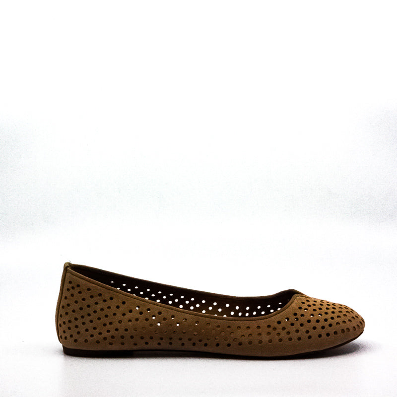 Yieldings Discount Shoes Store's Enorahh Suede Flats by Lucky Brand in Glazed Tan