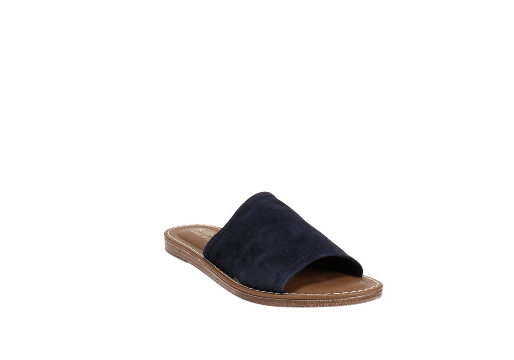 Yieldings Discount Shoes Store's Ros-Italy Slide Sandals by Bella Vita in Navy