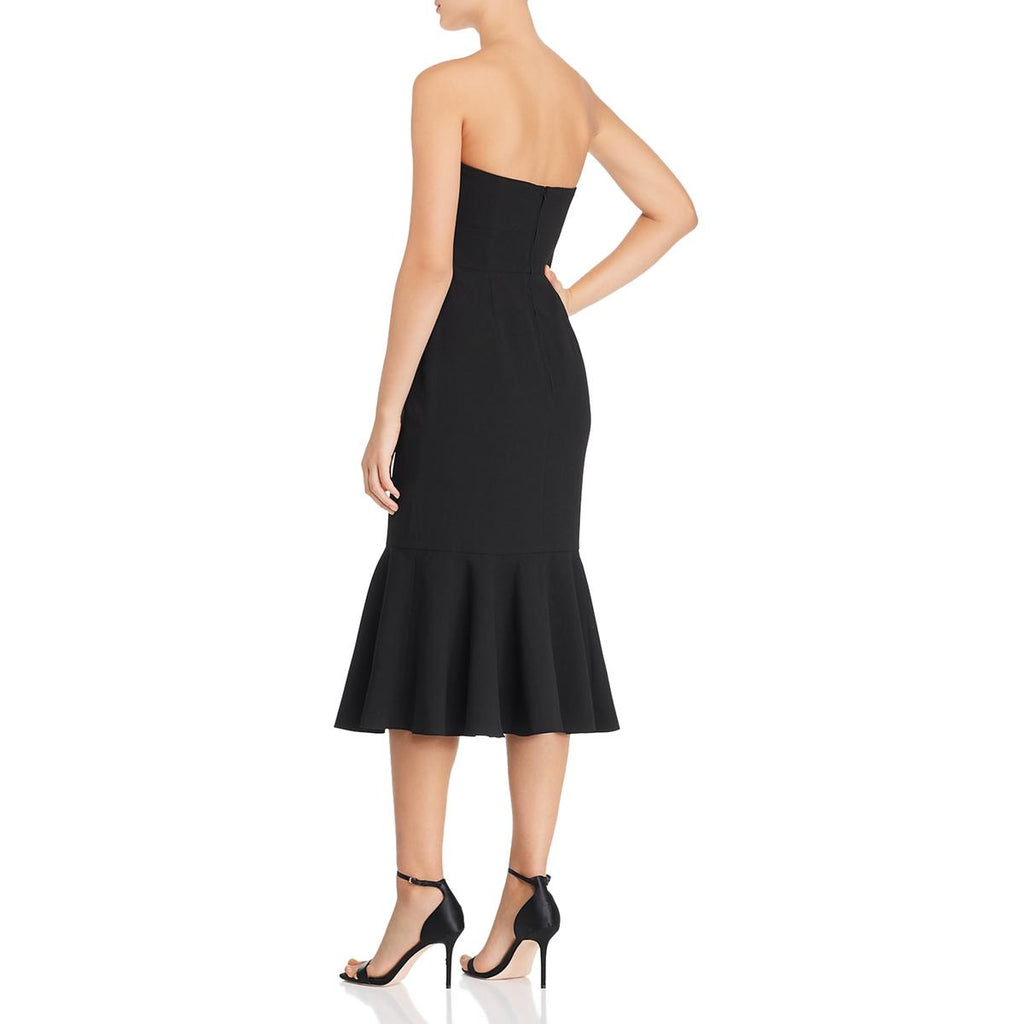 Yieldings Discount Clothing Store's Without You Strapless Sheath Dress by Keepsake in Black
