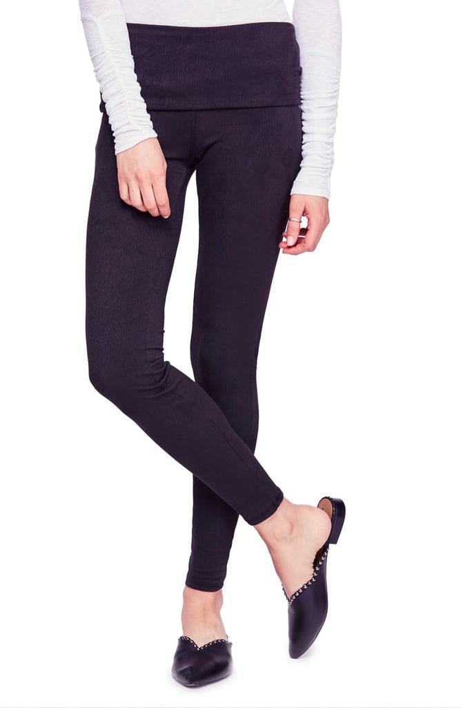 Yieldings Discount Clothing Store's Khordney Leggings by Intimately By Free People in Black