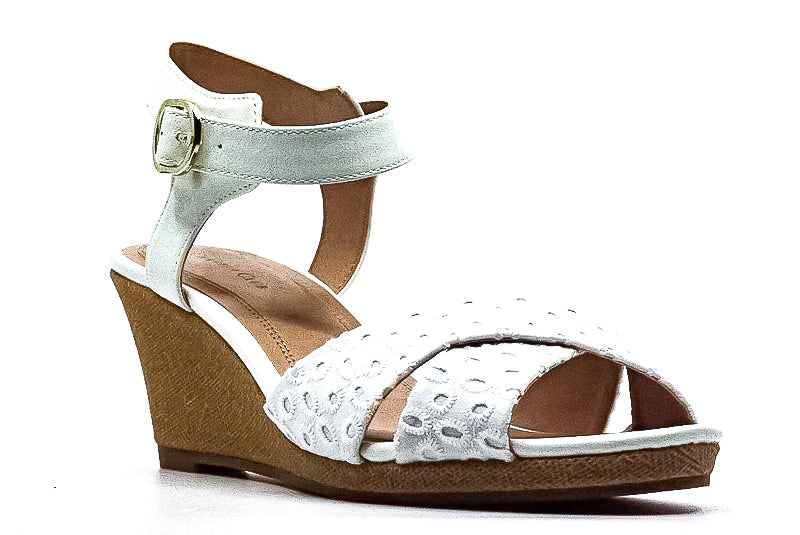 Yieldings Discount Shoes Store's Sonome Wedge Sandals by Charter Club in White