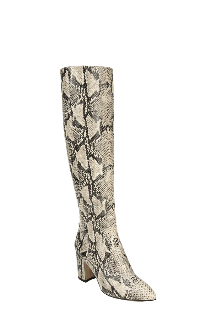 Yieldings Discount Shoes Store's Hai Knee High Boot by Sam Edelman in Nude/SnakeLeather