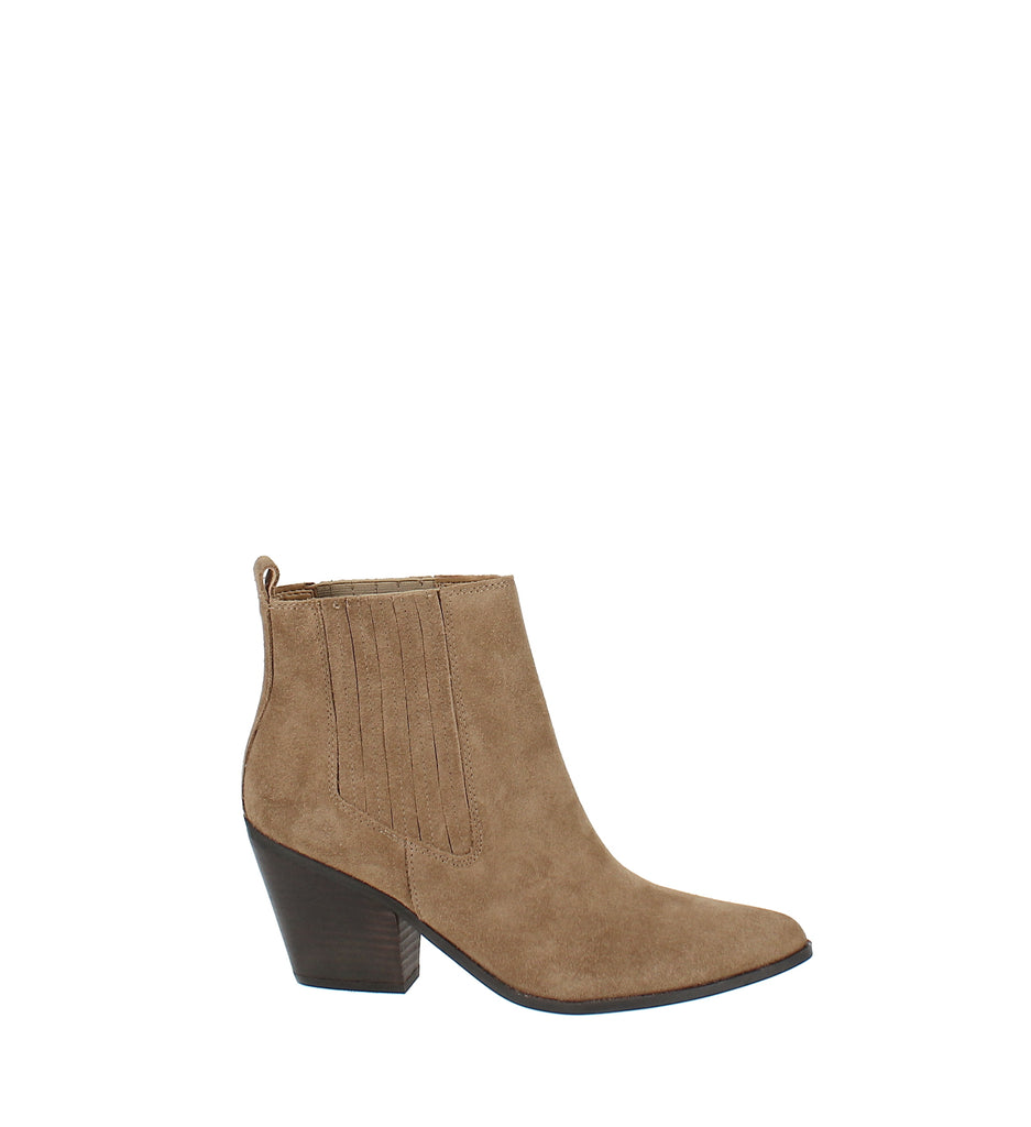 Yieldings Discount Shoes Store's Lexa Western Ankle Booties by Nine West in Brown