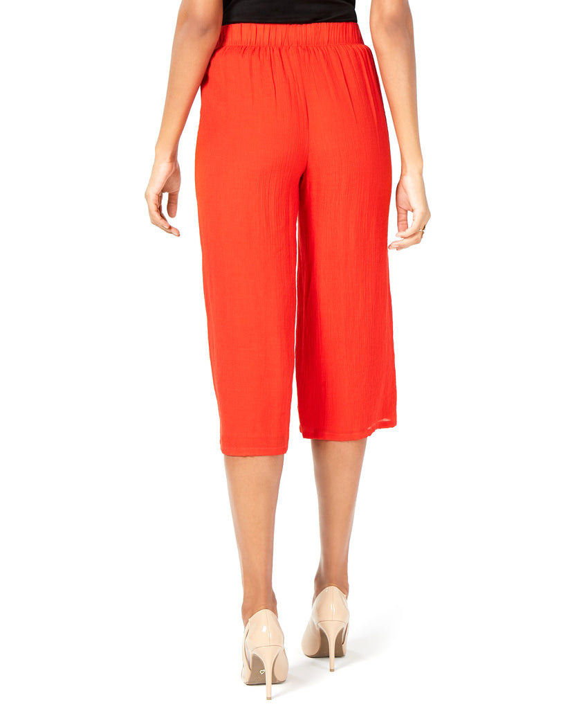 Yieldings Discount Clothing Store's Pull-on Capri Pants by Thalia Sodi in Eternal Red
