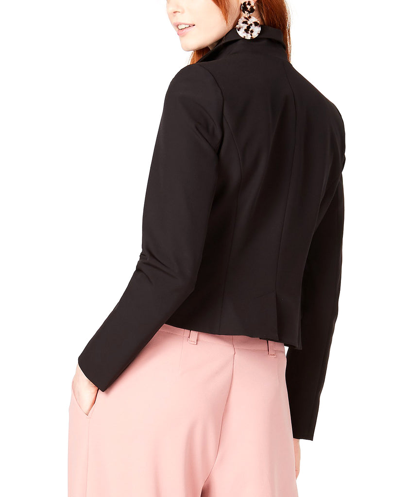 Yieldings Discount Clothing Store's Zippered Blazer by Bar III in Deep Black